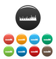 equalizer audio icons set color vector image vector image