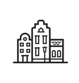 Europe Townt House Emblem vector image vector image