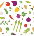Farm vegetables pattern vector image vector image