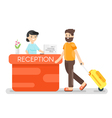 flat style of hotel reception vector image vector image