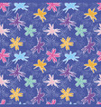 flower pattern bright flowers on a lilac vector image vector image