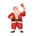 Full length portrait of Santa ringing a bell vector image vector image