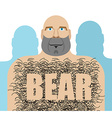 Gay bear Big hairy man LGBT community vector image