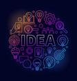 idea round bright vector image vector image