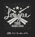 League emblem print and design elements vector image vector image