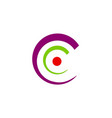 letter c abstract circle logo vector image vector image