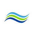 line wave abstract water company logo vector image vector image
