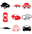 logo icons car vector image