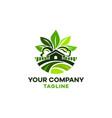 logo real estate green house eco farm vector image vector image