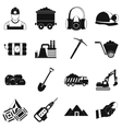 Mining icons simple set vector image vector image