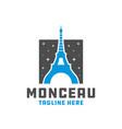 modern eiffel tower logo vector image vector image