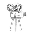 movie camcorder technology vector image