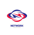 network - business logo template concept vector image