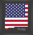 new mexico map with american national flag vector image vector image