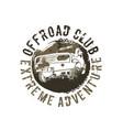 off-road club logo vector image vector image