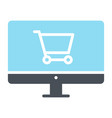 online shopping silhouette icon minimal pictogram vector image vector image