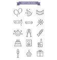 party line icons vector image vector image