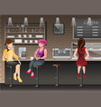 people in bar vector image vector image