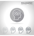 Philosophy outline icon vector image