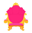 pink royal princess throne icon cartoon style vector image vector image