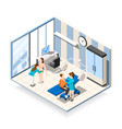 plastic surgery isometric composition vector image