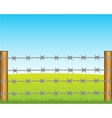 Poles with barbed wire vector image