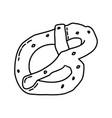 Pretzel icon doodle hand drawn or outline icon