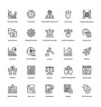 project management line icons set 8 vector image vector image