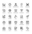 project management line icons set 8 vector image