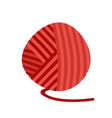 red ball of yarn threads bundle of wool for vector image