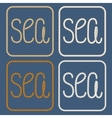 Sea nautical ropes design elements vector image vector image