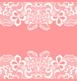 seamless lace border white lacy vintage elegant vector image vector image