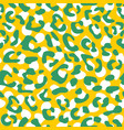 seamless leopard pattern design animal green vector image vector image