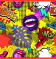 seamless pattern comic book style vector image vector image