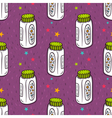 seamless pattern with baby powder bottle vector image vector image