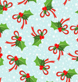 Seamless pattern with poinsettia vector image