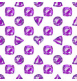 seamless pattern with precious gem amethyst vector image