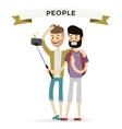 selfie shots mans gays couple vector image vector image