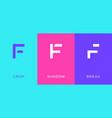 set letter f minimal logo icon design template vector image