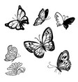 set of abstract butterflies vector image