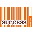 success word build in bar code vector image vector image
