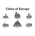 the city of europe vector image