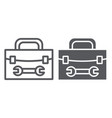 tool box line and glyph icon repair and vector image vector image