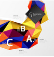 triangle mosaic abstract template vector image vector image
