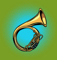 Tuba french horn helicon musical instrument vector image