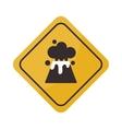 Volcano warning sign vector image vector image