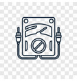 voltmeter concept linear icon isolated on vector image vector image