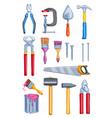 watercolor work tool home repair instrument vector image
