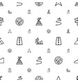 way icons pattern seamless white background vector image vector image