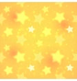 Yellow blurred shining stars seamless pattern vector image vector image